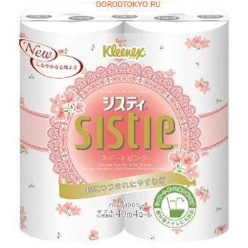 Фото Crecia «Sistie Alice Pink» Туалетная бумага, двухслойная, 4 рулона по 40 м.. Купить с доставкой