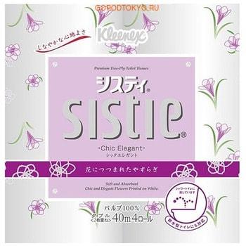 Фото Crecia «Sistie Chic Elegant» Туалетная бумага, двухслойная, 4 рулона по 40 м.. Купить с доставкой