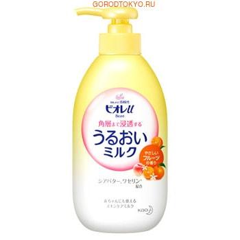 KAO «Biore U» Увлажняющее лёгкое молочко для лица и тела, c нежным фруктовым ароматом, 300 мл.Защита от солнца, для загара, после загара<br>Увлажняющее молочко Biore U обеспечивает мгновенный уход за кожей тела.  Легко проникает в глубокие слои кожи, наполняя их влагой.  В состав средства входит масло ши, которое обладает смягчающими и защитными свойствами, а также содержит УФ-фильтры.  Молочко не содержит этанола и красителей, подходит даже для нежной детской кожи и для кожи лица.  Способ применения: нанесите небольшое количество средства на ладони, массажными движениями разотрите по телу.  Также подходит для лица.  Состав: вода, глицерин, ПЭГ-32, диметикон, BG, минеральное масло, лаурил метакрилат / метакрилат натрия кроссполимер, масло ши, вазелин, аргинин, цетанол, глицерилбегенат, дистеарат, сорбитан, стеароил глютамат, акрилаты / алкилакрилат C10-30 кроссполимер, ПЭГ-60 гидрогенизированное касторовое масло, лаурет-23, лаурет-4, лаурет сульфат натрия, гидроксид калия, феноксиэтанол, метилпарабен, отдушка.<br>