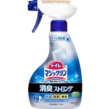 KAO «Magiclean Toilet Aroma» Моющее средство для туалета для устранения стойких запахов, с ароматом свежих трав, 400 мл. спрей пенка для чистки пола kao glass magiclean с лесным ароматом 400 мл