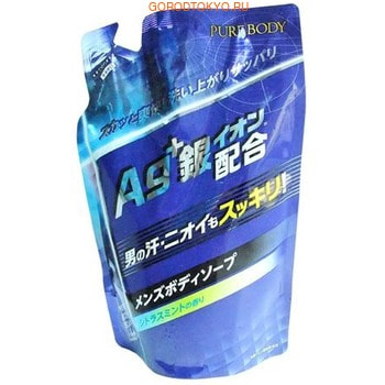 Mitsuei Увлажняющее крем-мыло для мужчин с ионами серебра, дезодорирующее, ароматом мяты и цитруса, мягкая упаковка, 400 мл.Гели для душа<br>Ароматное крем-мыло для мужчин с выраженным дезодорирующим эффектом.  Крем-мыло разработано с учетом особенностей потовой и жировой секреции мужской кожи.  Ионы серебра - это природный антисептик, который обладает не только противовоспалительным и антисептическим свойствами, но и стимулирует процесс регенерации клеток кожи, оказывает тонизирующий эффект.  Мыло создает обильную пену, которая бережно очищает кожу, оставляя после мытья ощущение свежести и бодрящий аромат мяты и цитрусов.<br> Состав: вода, лауриновая кислота, кокамид-DEA, лаурет сульфат натрия, миристиновая кислота, гидроксид калия, лаурамидпропилбетаин, глицерин, пальмитиновая кислота, лаурамин оксид, хлорид натрия, лаурилфосфат натрия, PEG-8, гидроксипропилметилцеллюлоза, бензоат натрия, лимонная кислота, этидроновая кислота, серебро, целлюлозная камедь, углеводород натрия, ароматизатор.<br>