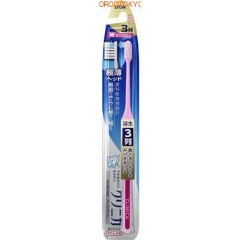 Фото LION «Clinica Advantage» Суперкомпактная 3-рядная зубная щётка с плоским срезом, с тонкой ручкой, мягкая, 1 шт.. Купить в РФ