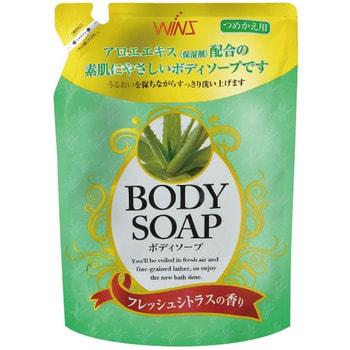 NIHON Detergent «Wins Body Soup peach» Крем-мыло для тела, с экстрактом алоэ и богатым ароматом, мягкая упаковка, 400 мл. r b parker s the devil wins