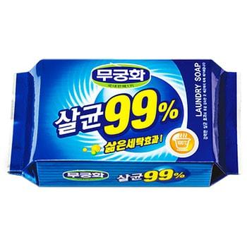 """Mukunghwa """"Laundry soap 99%"""" Стерилизующее хозяйственное мыло с повышенными отстирывающими свойствами, 230 г."""