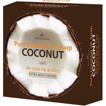 MUKUNGHWA Мыло туалетное твёрдое увлажняющее из 100% масла кокоса, с кокосовой копрой, 100 г.Косметическое мыло<br>Высококачественная основа из 100% кокосового масла создает обильную пену, а мельчайшие пузырьки очень мягко и нежно воздействуют на кожу.  Входящее в состав кокосовое масло хорошо питает, устраняет воспаления, смягчает, увлажняет и восстанавливает, препятствует возникновению трещинок, шелушений и раздражений.  Питательная смесь масел оливы, камелии, рисовых отрубей, жожоба и виноградных косточек омолаживают кожу, делает ее ровной, гладкой и сияющей.<br>