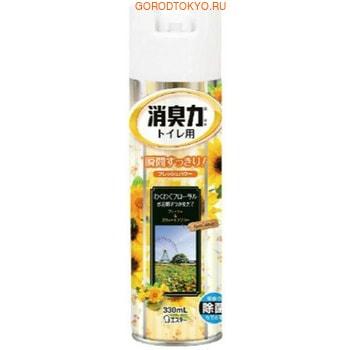 ST «Shoshuriki» Освежитель воздуха для туалета, с ароматом цветов, 330 мл.