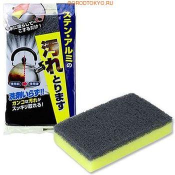 LEC Губка для чистки без моющих средств - изделий из нержавеющей стали, алюминия и фарфора, 70х20х115 мм. от GorodTokyo