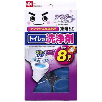 Фото LEC Таблетка очищающая и ароматизирующая для бачка унитаза, окрашивающая воду в голубой цвет, с ароматом лаванды, 8х50 г.. Купить в РФ