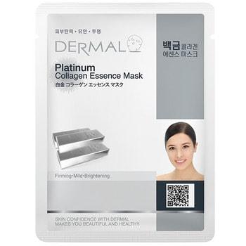 Dermal Косметическая маска с коллагеном и коллоидной платиной «Платиновый блеск», 23 г.КОРЕЙСКАЯ КОСМЕТИКА<br>Укрепляет, смягчает, придает сияние.  Содержит коллоидную платину, которая проникает глубоко в кожу, эффективно выводит вредный активный кислород из кожи и поддерживает её свежей и упругой в течение всего дня.<br>