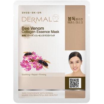 Dermal Косметическая маска с коллагенои и пчелиным ядом «Пчелиный яд», 23 г.КОРЕЙСКАЯ КОСМЕТИКА<br>Содержит пчелиный яд, активизирует выработку природного коллагена, который повышает эластичность клеток кожи и таким образом продлевает её молодость.  Также способствует повышению в коже уровня кератиноцитов - клеток оберегающих её от вредного воздействия окружающей среды.<br>