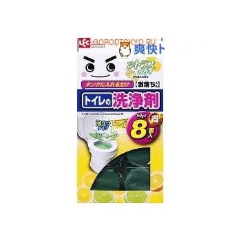 LEC Очищающая таблетка для бачка унитаза, с цитрусовым ароматом, 8х50 г.