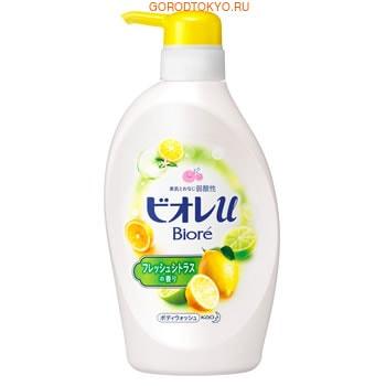"""KAO """"Biore U Smile Time"""" Мягкое пенное мыло для всей семьи, освежающий цитрусовый аромат, 480 мл."""
