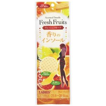 Fudo Kagaku Женские дышащие стельки с ароматом фруктов, 21-26 см. от GorodTokyo