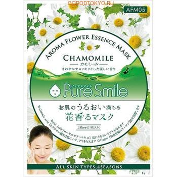 SUN SMILE «Pure Smile Aroma Flower» Успокаивающая маска для лица, с маслом ромашки, 1 шт.