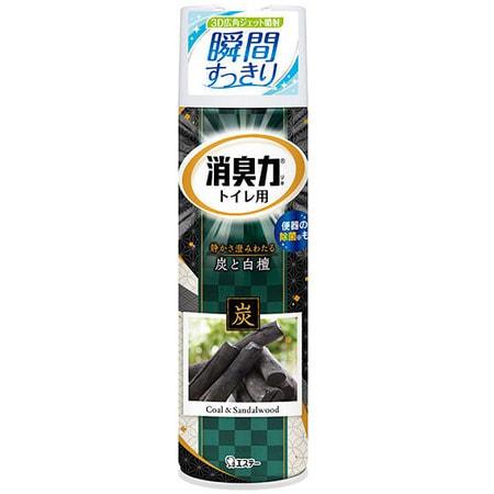 ST «Shoushuuriki» Спрей-освежитель воздуха для туалета, древесный уголь, сандаловое дерево, 330 мл.