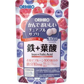 ORIHIRO БАД Железо с витаминами «Орихиро», 120 таблеток.Витамины, БАДы, напитки для бодрости и красоты<br>Железо участвует в процессах кроветворения, в создании гемоглобина, без него ткани мозга и желез внутренней секреции, как и всего тела, не могут быть обеспечены кислородом.  Функции в организме:<br><br>Защищает от железодефицитной анемии<br>Устраняет женский дефицит железа<br>Предупреждает развитие болезни крови<br>Прибавляет сил, устраняет депрессии<br>Устраняет бледность кожи<br><br>Рекомендации по применению: взрослым принимать (разжевать) по 2 таблетки 2 раза в день во время еды. Продолжительность приема - 1 месяц.  В состав входит (в 4 таблетках): железо - 10 мг (147%), витамин С - 80 мг (80%), витамин В12 - 1,8 мкг (75%), витамин В6 - 1,0 мг (77%), фолиевая кислота - 140 мкг (58%), медь - 0,1 мг (11%).  Упаковка: 120 таблеток по 500 мг.<br>
