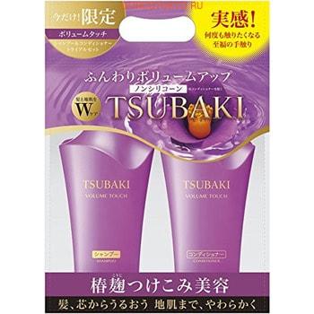 SHISEIDO SHISEIDO Tsubaki Volume Touch Набор для волос Натуральный объём, с экстрактом камелии и аминокислотами: Шампунь, 500 мл и Кондиционер, 500 мл.ДЛЯ ОКРАШЕННЫХ И ПОВРЕЖДЁННЫХ ВОЛОС<br><br>