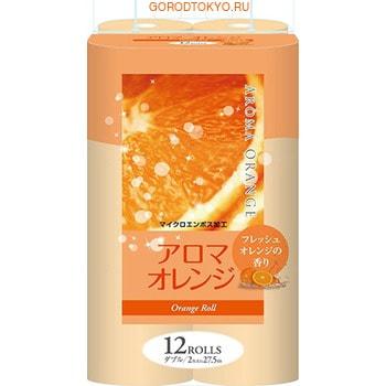 """Фото FUJIEDA """"Fujieda Seishi"""" Туалетная бумага двухслойная, с ароматом апельсина, 12 рулонов по 27,5 м."""