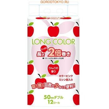 FUJIEDA Fujieda Seishi Туалетная бумага двухслойная, с ароматом яблок, 12 рулонов по 50 м. бумага туалетная marutomi фруктовая корзина виноград двухслойная 18 рулонов