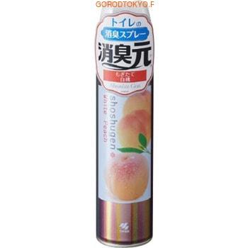 KOBAYASHI «WhitePeach» Освежитель-аэрозоль для туалета, 280 мл. kobayashi освежитель воздуха для туалета kaori kaoru – аромат белой и лиловой лаванды 140 гр