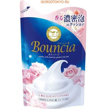 """COW COW """"Bouncia"""" Жидкое увлажняющее мыло для тела """"Взбитые сливки"""", с гиалуроновой кислотой и коллагеном, с элегантным ароматом роскошного белого мыла, 430 мл, сменная упаковка."""