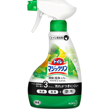 KAO Magiclean Toilet Моющее средство для туалета с дезодорирующим эффектом, мятно-цитрусовый аромат, спрей 380 мл. kao my pet мой любимчик универсальное моющее средство для всех видов поверхностей 2000 мл