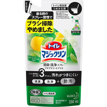 KAO Magiclean Toilet Моющее средство для туалета с дезодорирующим эффектом, мятно-цитрусовый аромат, 330 мл, сменная упаковка. защитное стекло caseguru для huawei mate s