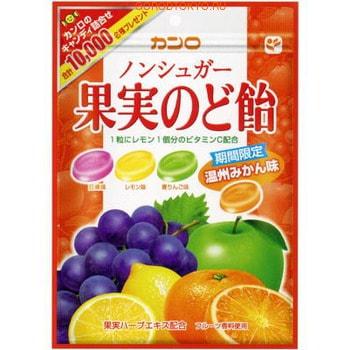 Kanro Фруктовые леденцы без сахара для профилактики боли в горле KANRO, мягкая упаковка 90 гр.