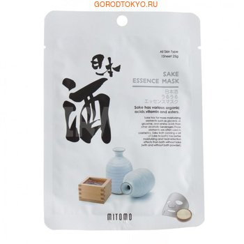 Mitomo «Uruuru» Очищающая тканевая маска для лица с экстрактом саке, 1 шт.СРЕДСТВА ПРОТИВ ПИГМЕНТАЦИИ - ДЛЯ ОТБЕЛИВАНИЯ КОЖИ<br>Маска на натуральной хлопковой основе с экстрактом саке подходит для любого типа кожи.  Экстракт саке ; один из лучших ингредиентов в современной косметологии. Он содержит большое количество витаминов, минералов и аминокислот, стимулирующих регенерацию кожи.  Линолевая кислота и арбутин осветляют тон кожи.  Экстракт саке устраняет повреждения эпидермиса, вызванные УФ-излучением.  Маска не содержит спирта, парабенов, минеральных масел и красителей.   Способ применения: нанесите маску на очищенную кожу лица, расправьте.  Оставьте на 20-30 минут.  Снимите маску, остатки эссенции вотрите в кожу или удалите с помощью ватного диска.  Нанесите увлажняющий крем для лица.<br>