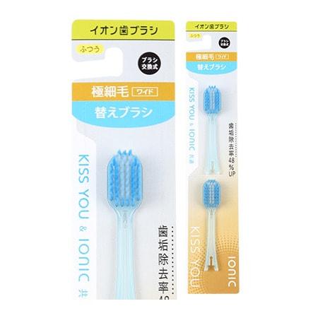 Hukuba Dental Сменные головки для ионной зубной щётки широкой, средняя жёсткость, 2 шт.