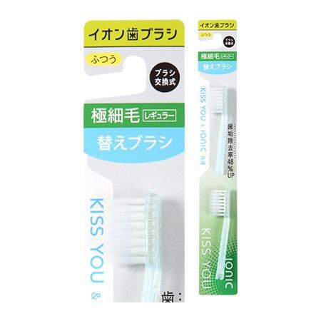 Hukuba Dental Сменные головки для ионной зубной щётки классической, средней жёсткости, 2 шт.