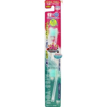 Hukuba Dental Сменные головки для ионной зубной щётки с фтором супер-компактной, средней жёсткости, 2 шт.