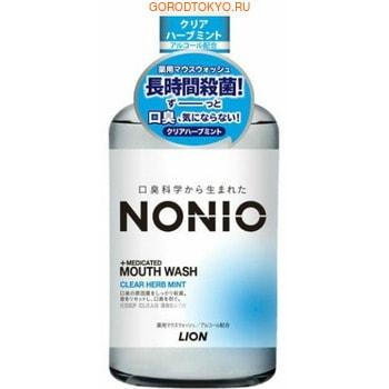 LION «Nonio» Профилактический зубной ополаскиватель, аромат трав и мяты, 600 мл.Зубные элексиры<br>Формула длительной защиты от неприятного запаха изо рта (галитоза): тщательно удаляет бактериальный налет, который вызывает неприятный запах, подавляет дальнейшее размножение бактерий за счет входящего в состав антибактериального компонента СРС (цетилпиридиний хлорид), содержит ароматические компоненты длительного освежающего действия.  Регулярное использование ополаскивателя позволяет надолго обеспечить свежесть дыхания, предотвратить появление и дальнейшее разрушение поврежденных зубов, воспаление десен, провести гигиену полости рта, в любом удобном месте.  Охлаждающий аромат перечной и кудрявой мяты с нотами ментола, муската, шалфея, кориандра и тимьяна<br>