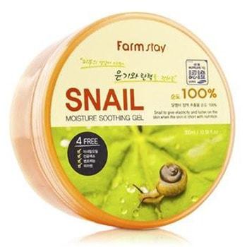 """FarmStay """"Snail Moisture Soothing Gel"""" Многофункциональный смягчающий гель с экстрактом улитки, 300 мл. (фото)"""