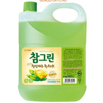"""CJ Lion """"Chamgreen"""" Средство для мытья посуды с ароматом зелёного чая, 3830 мл."""