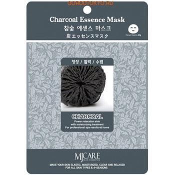 MIJIN «MJ Care» Маска для лица с экстрактом древесного угля, 1 шт.
