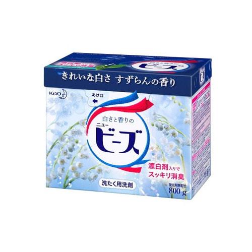 KAO «New Beads» Стиральный порошок с нежным ароматом весеннего ландыша, для белого и цветного белья, 800 г.