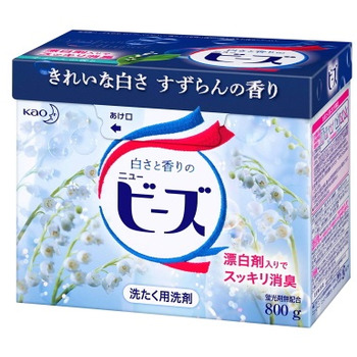"""KAO """"New Beads"""" Стиральный порошок с нежным ароматом весеннего ландыша, для белого и цветного белья, 800 г. (фото)"""