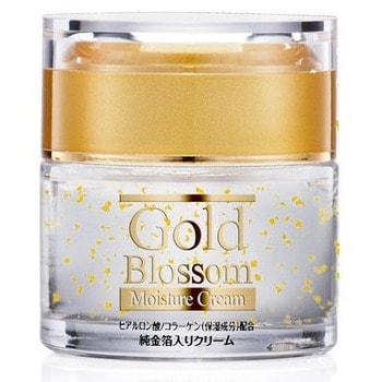 """Squeeze """"Gold Blossom"""" Увлажняющий крем для лица с золотом, гиалуроновой кислотой и коллагеном, 50 г."""