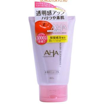 """BCL """"AHA Wash Cleansing"""" Пена-скраб для лица (с фруктовыми кислотами, минеральной глиной и увлажняющими компонентами), 120 г."""