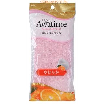 "Ohe Corporation ""Awa Time Body Towel Soft"" Мочалка для тела мягкая, 22х100 см."