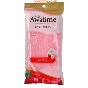 "Ohe Corporation ""Awa Time Body Towel Normal"" Мочалка для тела, средней жёсткости."