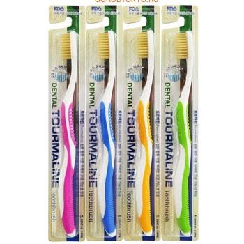 DENTAL CARE «Tourmaline Toothbrush» Зубная щётка «Турмалин» со сверхтонкой двойной щетиной (средней жёсткости и мягкой), 1 шт.