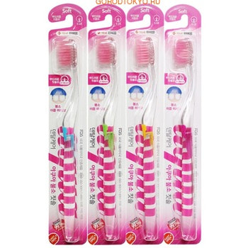 DENTAL CARE «Fluorine Toothbrush» Зубная щётка «Фтор» cо сверхтонкой двойной щетиной (средней жёсткости и мягкой) и прозрачной прямой ручкой, 1 шт. (фото)