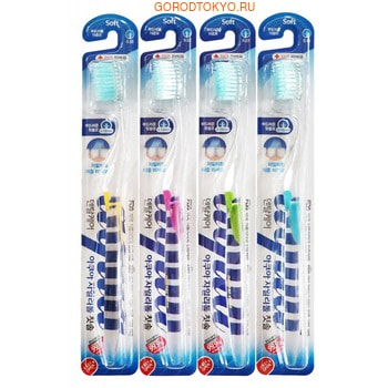 DENTAL CARE «Xylitol Toothbrush» Зубная щётка «Ксилит» cо сверхтонкой двойной щетиной (средней жёсткости и мягкой) и прозрачной прямой ручкой, 1 шт.