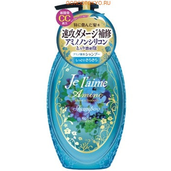 KOSE Cosmeport «Je l'aime - Amino» Шампунь с аминокислотами для повреждённых волос «Гладкость и увлажнение», фруктово-цветочный аромат, 500 мл. (фото)