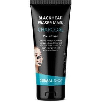 Dermal Shop Маска-плёнка для удаления чёрных точек в области носа и подбородка, с древесным углём и глиной, 50 г.