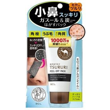 B&C Laboratories «Tsururi Special Care» Маска-плёнка против чёрных точек, чёрная, с марокканской вулканической глиной, 55 г.
