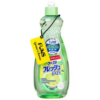 """Daiichi """"Funs"""" Жидкость для мытья посуды, овощей и фруктов """"Свежий лайм"""", 600 мл. (фото)"""