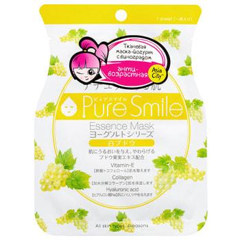 """Sun Smile """"Yougurt"""" Маска для лица на йогуртовой основе, c виноградом, 1 шт. (фото)"""